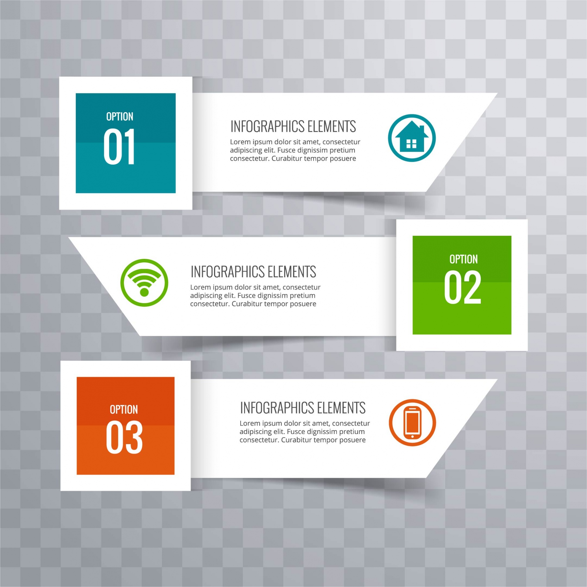 Modern infographic background