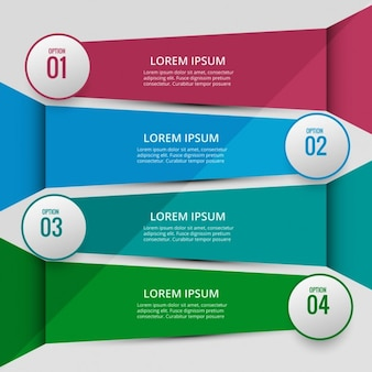 Modern infographic banners with numbers