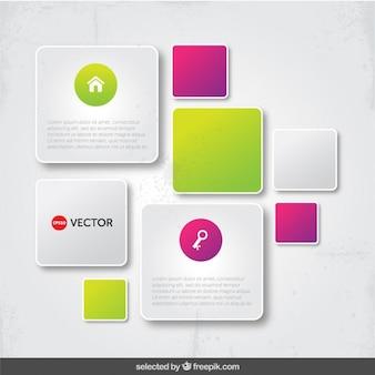 Modern infographic frames