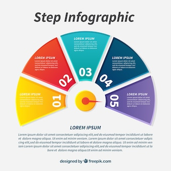 Modern infographic template with circular design