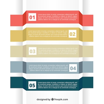 Modern infographic with five options