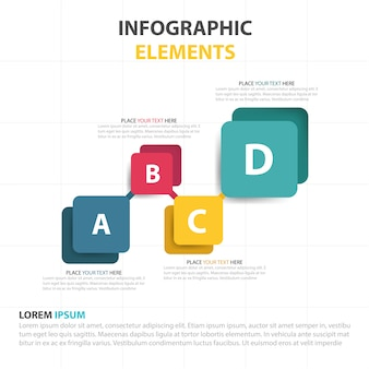 Modern infographics with four color options