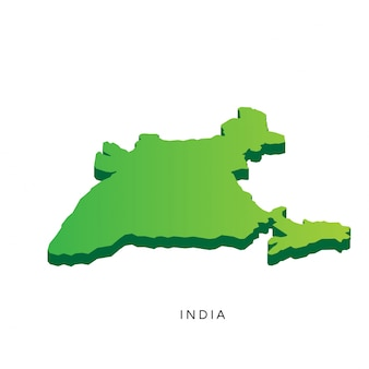 Modern Isometric 3D India Map