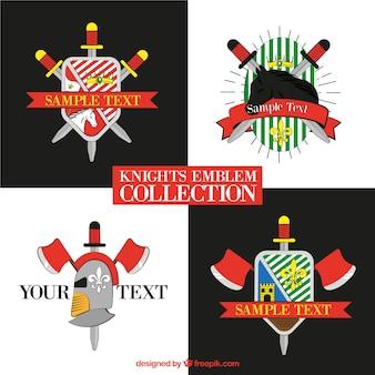 Modern knight emblem design