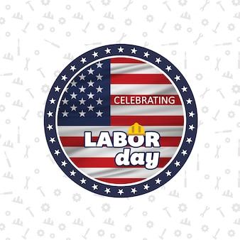 Modern labor day badge design