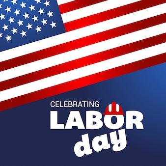 Modern labor day illustration