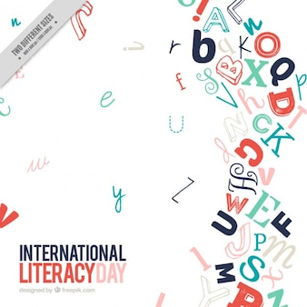 Modern letters literacy day background