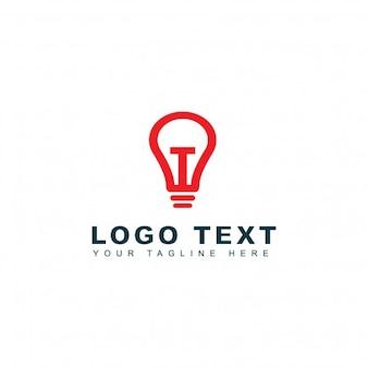Modern light bulb logo