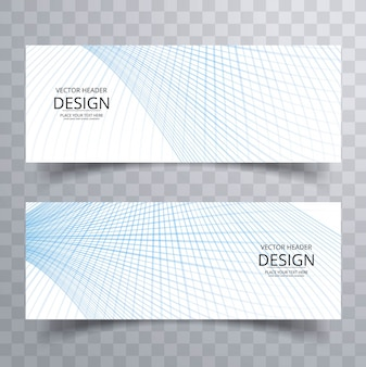 Modern lines banner grid style