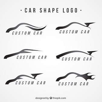 Modern logos with car shapes