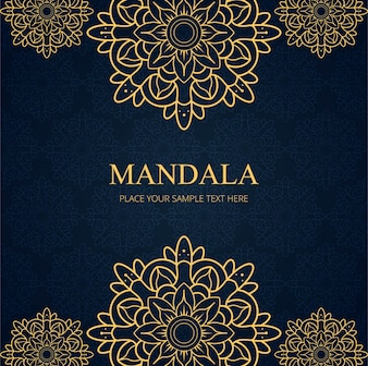 Modern mandala background