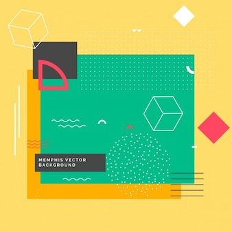 Modern memphis background with geometric shapes
