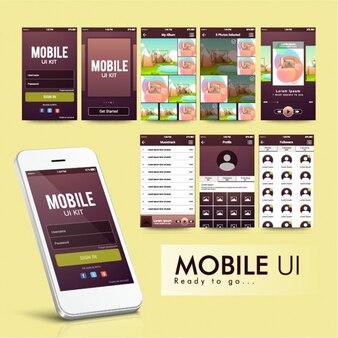 Modern mobile app design