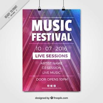 Modern music festival poster