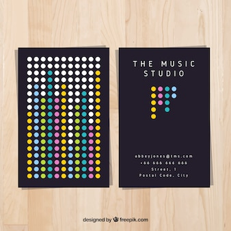 Modern music studio card