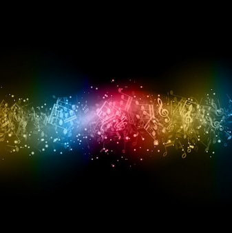 Modern Musical Notes Background