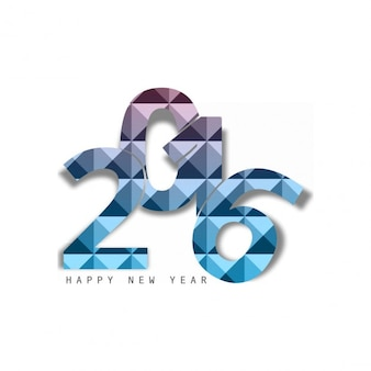 Modern new year 2016 text on white background