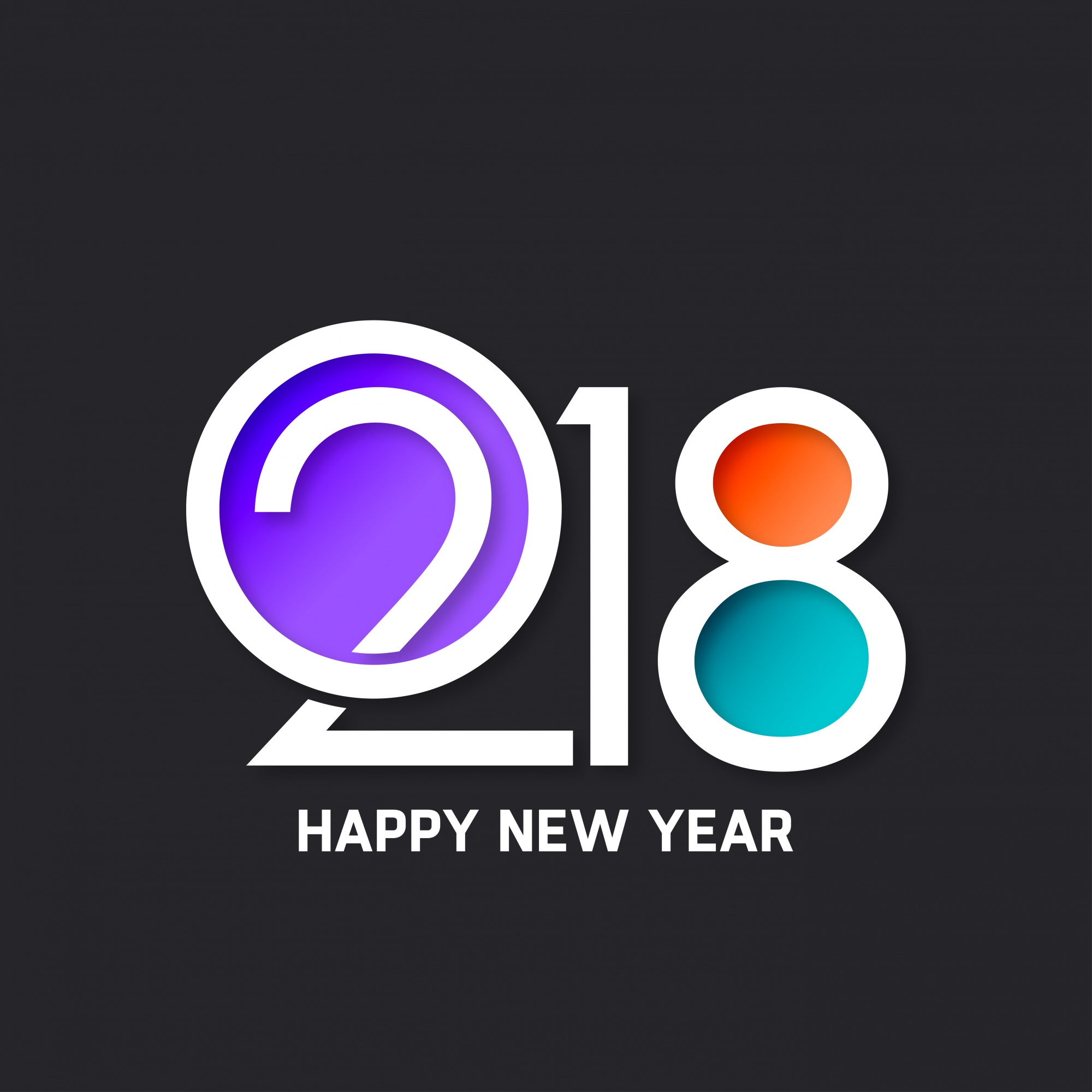 Modern new year 2018 design