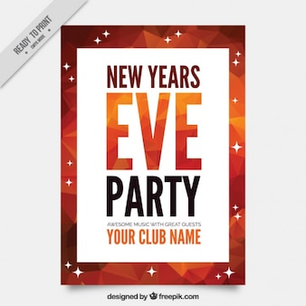 Modern new year party brochure