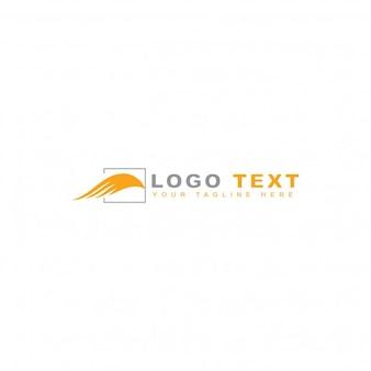 Modern orange travelling logo