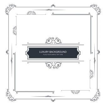 Modern ornamental frame design