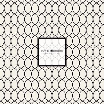 Modern oval shapes pattern