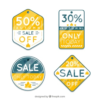 Modern pack of autumn sale labels