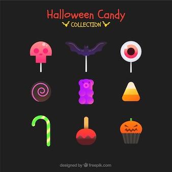 Modern pack of halloween candies