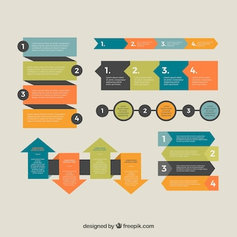 Modern pack of infographic elements