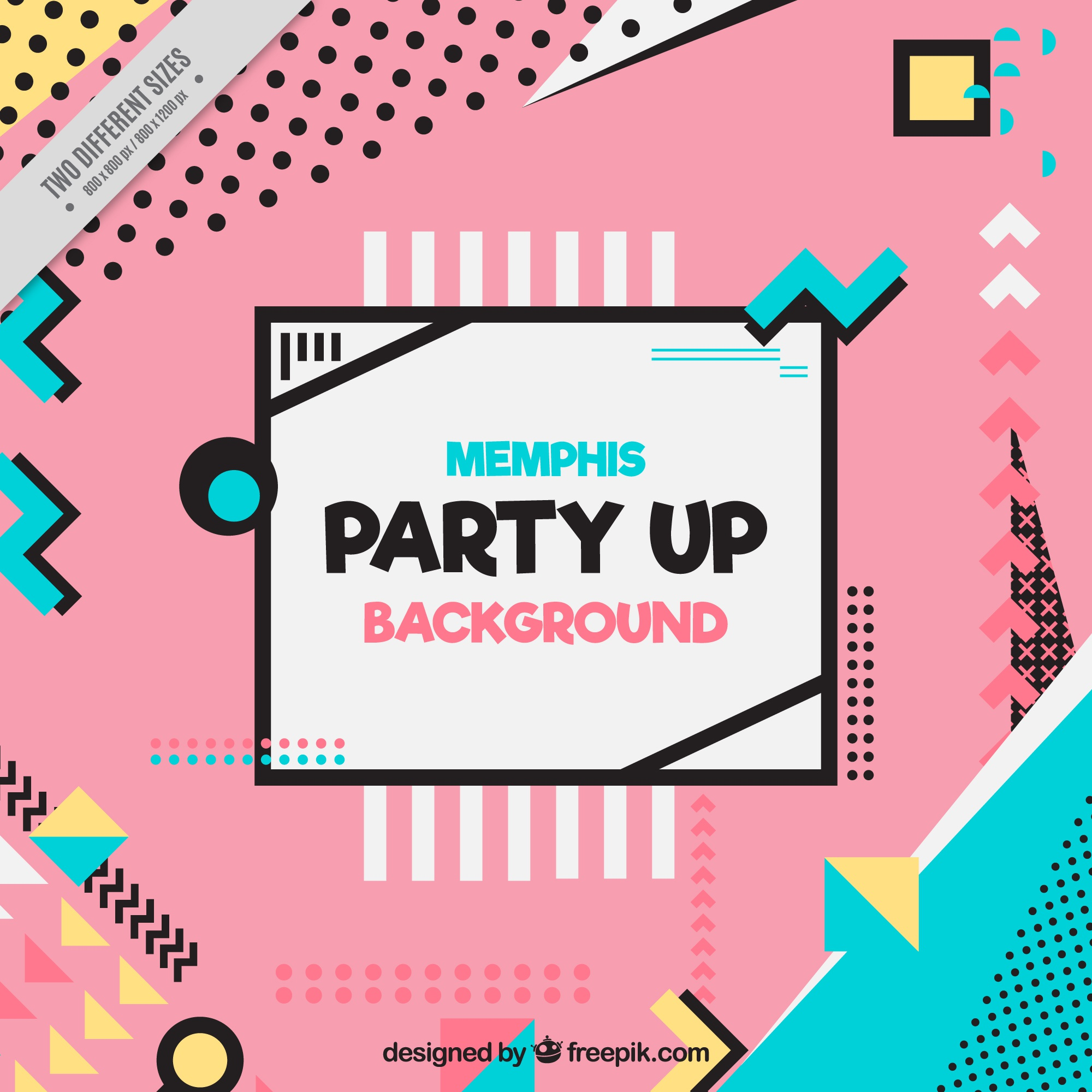 Modern party background with geometric shapes