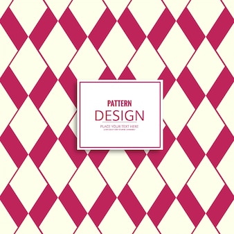 Modern pattern with red and white geometric shapes