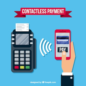 Modern payment methods with flat design