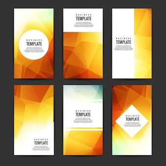 Modern polygon brochure set