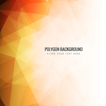 Modern polygonal background in orange tones