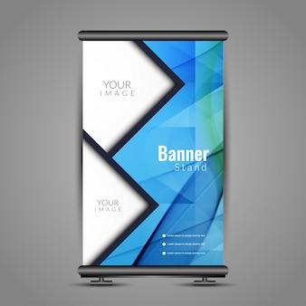 Modern polygonal roll up banner
