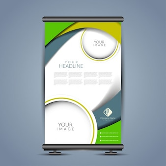 Modern poster stand template