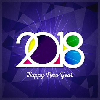 Modern purple new year 2018 design
