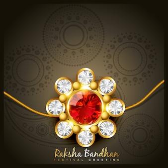 Modern raksha bandhan design
