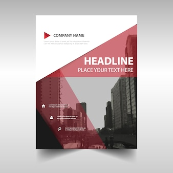 Modern red brochure geometric template