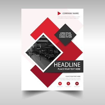 Modern red commercial annual report template