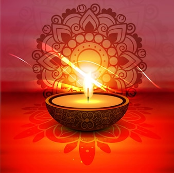 Modern red diwali background