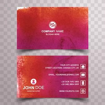 Modern red splash business card