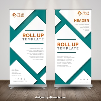 Modern roll up template for business