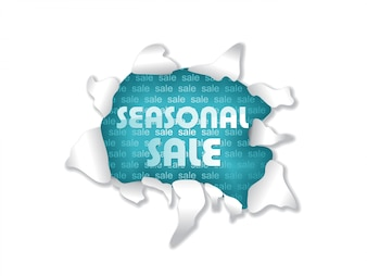 Modern sale design torn paper style