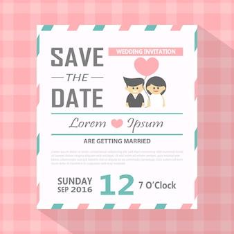 Modern save the date invitation card