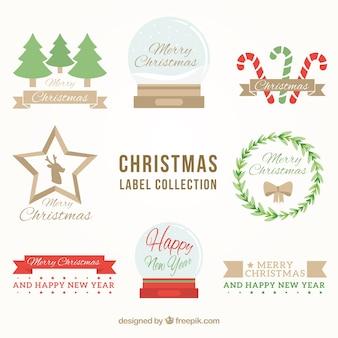 Modern set of christmas labels