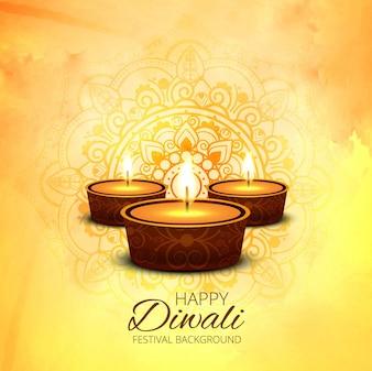 Modern shiny diwali background