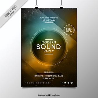Modern speaker party poster
