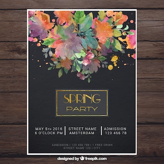 Modern spring party poster