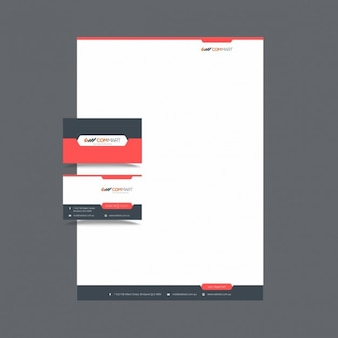 Modern stationery template for business